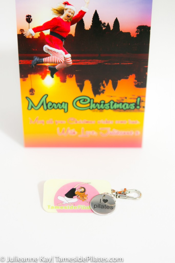 Pilates key tag and charm from Tameside Pilates