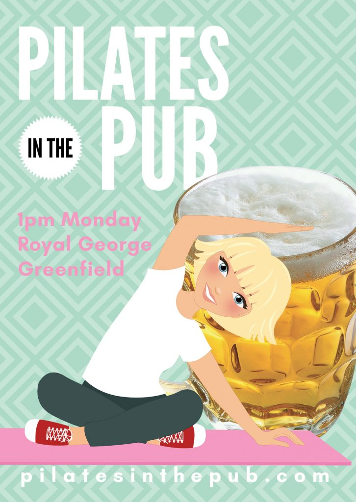 Pilates in the Pub, The Royal George, Greenfield with Julieanne, Tameside Pilates